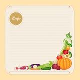 Пустой шаблон карточки рецепта в формате вектора бесплатная иллюстрация