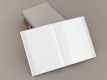 Пустой шаблон модель-макета книги цвета на серой предпосылке Стоковое фото RF