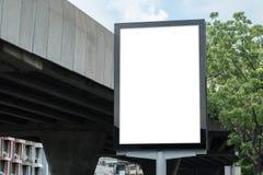 Пустой шаблон модель-макета плаката Стоковое Изображение RF