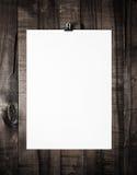 Пустой шаблон обработки документов Стоковые Изображения