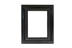 Пустой шаблон рамки черноты изображения изолированный на стене Стоковые Фото