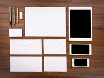 пустой шаблон Состойте из визитных карточек, Стоковое Изображение RF
