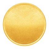 Пустой шаблон для золотой монетки или медали Стоковое Изображение