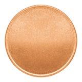 Пустой шаблон для медной монетки или медали Стоковое фото RF