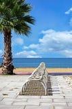 Пустой шкаф велосипеда на береге моря Стоковые Изображения RF