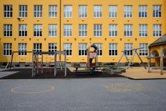 Пустой школьный двор Стоковые Фотографии RF