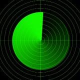 Пустой экран радара Стоковая Фотография