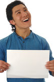 пустой экран человека Стоковое Изображение RF
