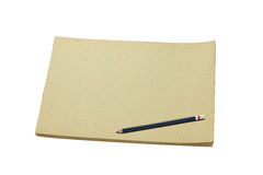 пустой эскиз карандаша книги Стоковые Фото