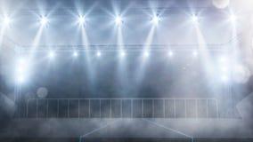 Пустой этап концерта с руками вентиляторов поднял вверх предпосылку Стоковое Фото