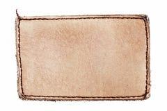 пустой ярлык джинсыов Стоковое фото RF