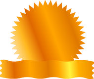 пустой ярлык золота certicate Стоковое фото RF