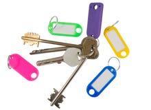 пустой ярлык ключа дома Стоковая Фотография RF
