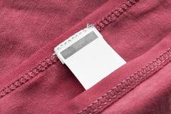 Пустой ярлык одежд Стоковое Фото