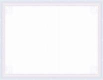 пустой guilloche сертификата обеспеченный Стоковое Изображение