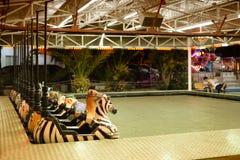 Пустой Luna Park в конце лета Стоковое Фото