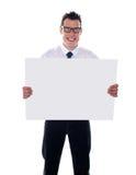 пустой signboard представителя удерживания Стоковая Фотография