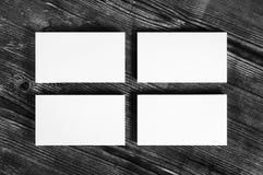 Пустые белые визитные карточки Стоковое Фото