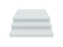 Пустые белые лестницы Стоковое Изображение RF