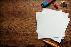 Пустые белые страницы памятки Стоковое Изображение RF