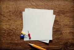 Пустые белые страницы памятки Стоковая Фотография RF