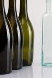 Пустые бутылки вина Стоковое Изображение