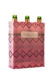 Пустые бутылки шампанского в сумке Стоковые Изображения RF