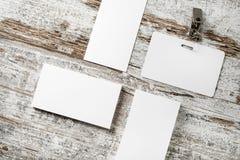 Пустые визитные карточки и значок Стоковые Изображения