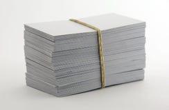 пустые визитные карточки Стоковые Изображения RF