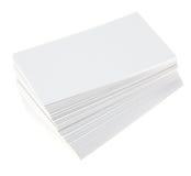 пустые визитные карточки Стоковые Фото
