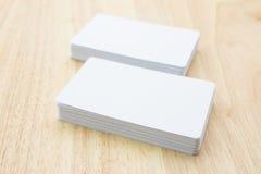 пустые визитные карточки Стоковые Фотографии RF