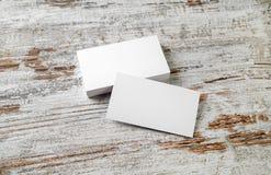 пустые визитные карточки Стоковые Изображения
