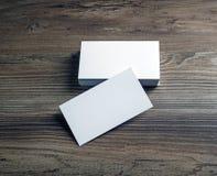Пустые визитные карточки Стоковая Фотография RF