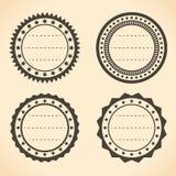 Пустые винтажные ярлыки круга Стоковое Изображение RF