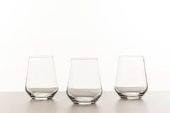 Пустые выпивая стекла Стоковое Изображение