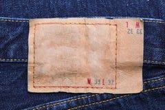 пустые голубые джинсы обозначают кожу Стоковые Фото