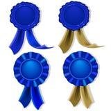 пустые голубые уплотнения медалей Стоковое Изображение