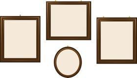 Пустые деревянные рамки иллюстрация штока