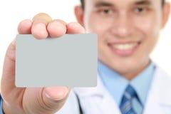пустые детеныши удерживания доктора визитной карточки Стоковое Изображение