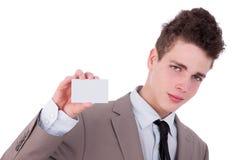 пустые детеныши человека руки визитной карточки Стоковая Фотография RF