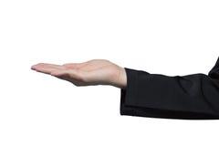 Пустые женщины руки на костюме Стоковая Фотография
