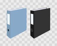 Пустые закрытые связыватели офиса на прозрачной checkered предпосылке также вектор иллюстрации притяжки corel Стоковое фото RF