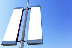 пустые знаки столба Стоковая Фотография RF