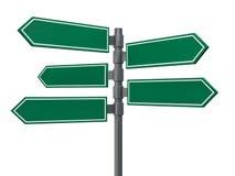 Пустые знаки указывая в противоположные направления 3d бесплатная иллюстрация