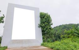 пустые знак и лес Стоковые Изображения