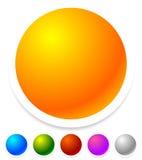 Пустые значки, кнопки как общий дизайн, выдвиженческие элементы Стоковое Фото
