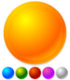 Пустые значки, кнопки как общий дизайн, выдвиженческие элементы Стоковая Фотография RF