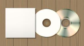 Пустые диск и случай иллюстрация штока
