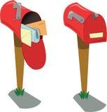 Пустые и полные почтовые ящики иллюстрация штока