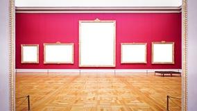Пустые картинные рамки Стоковое Изображение RF